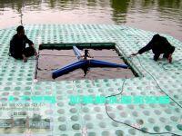 人工浮岛上加装耕水机