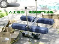 人工浮岛上加装曝气设备